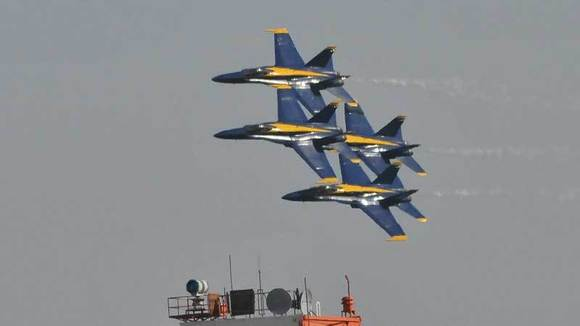 The Blue Angels fly during the 2012 NAF El Centro Air Show.