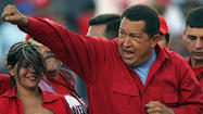 At midnight, Hugo Chavez and his entourage swept into the hotel lobby, transforming the drab venue in chilly, high-altitude La Paz into a sizzling vortex of tropical verve and <em>chavista</em> vigor.