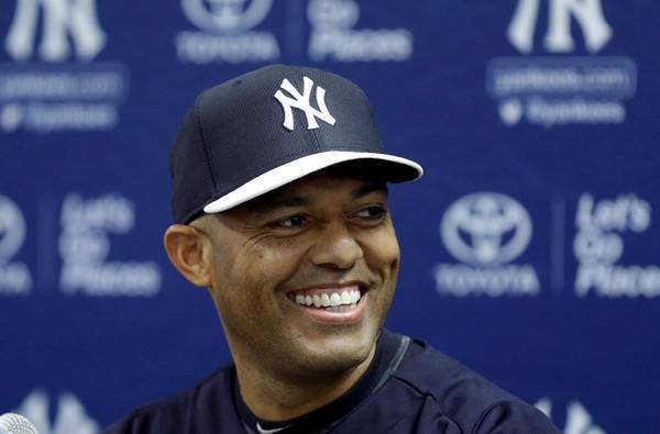 Yankees reliever Mariano Rivera was all smiles at a news conference Saturday when he announced he'd retire at the end of the 2013 season.