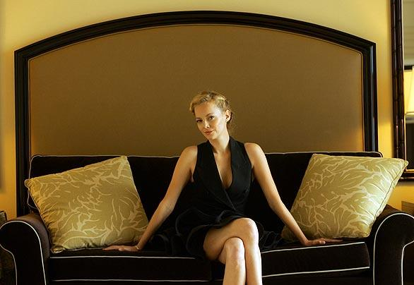 "Bijou Phillips, photographed at the Beverly Hilton on Dec. 3, 2008.   She portrays a dancer in the new movie ""Dark Streets,""  about a nightclub in New Orleans in the 1930s."