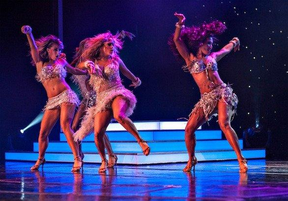 "A ""Dancing With the Stars: At Sea"" performance on an eastern Caribbean cruise by Holland America Line."