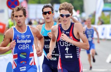 Lukas Verzbicas at the Kitzbuhel, Austria triathlon last June.