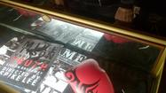 Products sold at Mike Tyson's 'Undisputed Truth,' show at the Pantages Theater.