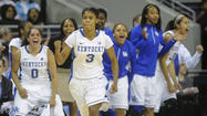 DULUTH, Ga. (AP) - Jennifer O'Neill sank 3-pointers on each end of a 15-0 run early in the second half that gave Kentucky the lead, and the Wildcats rolled past Georgia 60-38 on Saturday night to earn a spot in the SEC tournament championship game.