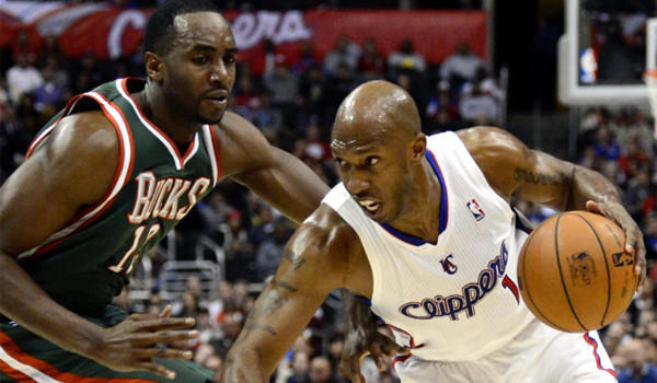 Chauncey Billups, shown going up against Milwaukee's Luc Mbah a Moute, is averaging 7.9 points on 40% shooting in 19.1 minutes per game for the Clippers this season.