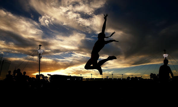 SYDNEY, AUSTRALIA - MARCH 09: Kerrie Perkins of the ACT competes in the womens Long Jump during the Sydney Track Classic at Sydney Olympic Park Sports Centre on March 9, 2013 in Sydney, Australia.  (Photo by Mark Nolan/Getty Images) *** BESTPIX *** ORG XMIT: 153122244