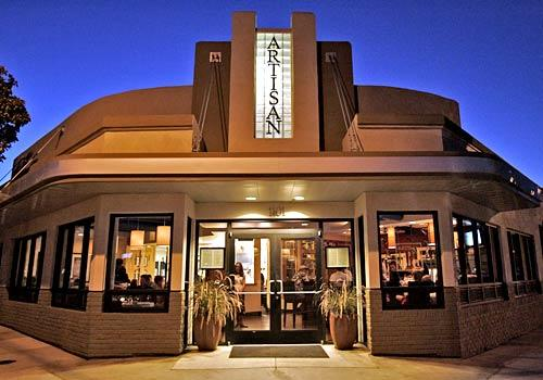 Artisan is a short walk north of Paso Robles' downtown square in the Central Coast's wine country. The restaurant, in an Art Deco building, has a contemporary bistro style.