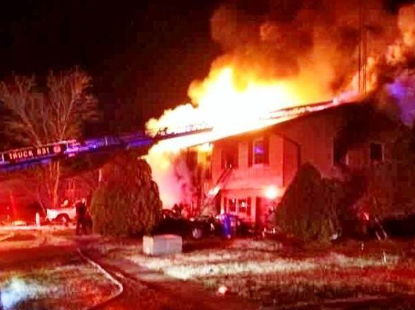 Firefightters respond to a house fire in Edgewood.