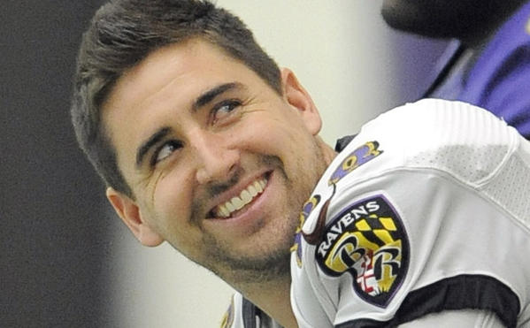"""Baltimore Ravens' Dennis Pitta appeared on the E! show, """"Fashion Police."""""""