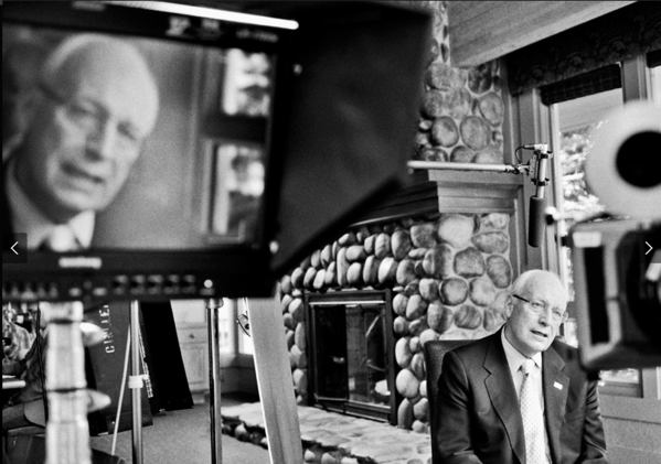 "Dick Cheney as he's interviewed for Showtime's ""The World According to Dick Cheney,"" which premieres at 9 p.m. Friday."