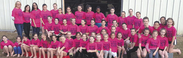 The 4-Star Gymnastics Team recently took fifth place in an invitational in Philadelphia after raising $5,800 for breast cancer awareness. Front row, from left, Cayleigh Hensley, Zoey McCormack, Abby Deshong, Ellie Levasseur, Rachel Hull, Maggie Betkowski, Laci Wolfe, Madeline Blash, Madigan Faircloth, Marlie Snyder, McKenize Kidwell, Isabella Weaver, Lexi Kidwell, Olivia Huneau, Emma Wert, Ellie Divelbiss, Cayla Nelson and Meredith Ballard. Second row, Paige Terch, McKenna Kissinger, Breanna Koopman, Kaydee Lesher, Faith Wilson, Alyssa Barkdoll, Genna Chenoweth, Noelle Soares, Vallery Dean, Amanda Foltyn, Haley Might, Emily Reasbeck and Abby Miller. Back row, Deanna Kline, Nica Sutch, Sandi VanCleave, Melissa Carpenter, Christina Shepard, Cara Garcia, Lauren Kauffman, Samanatha Whitman, Rachel Black, Tarin Branch, Madiyn Lane, Madisyn Hahn, Natalija Jepafanova, Katie Roemer, Amanda Barnes, Kammie Noel, Hannah Ryan and Alison Clingan.