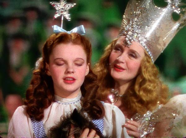 "Judy Garland, left, and Billie Burke in 1939's ""The Wizard of Oz."""
