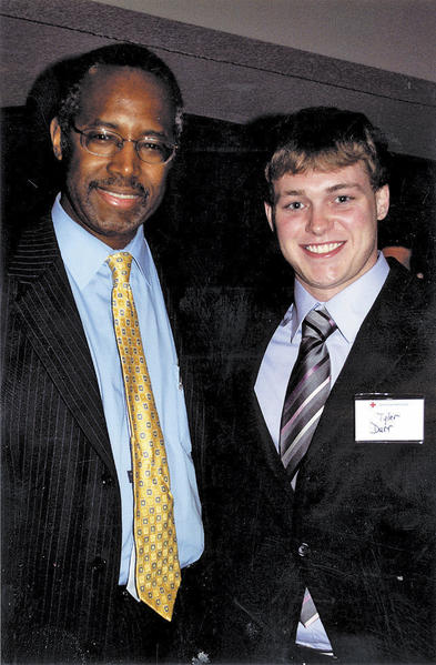 Tyler Durr, right, of Hagerstown, is shown with Dr. Ben Carson.