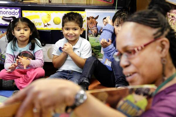 Janet Matthews teaches preschoolers at a Pacific Asian Consortium in Employment early childhood education program.