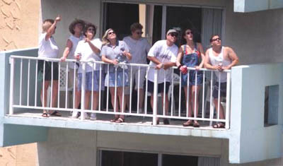 Images from past Air and Sea Shows - Homeowners watch the Air and Sea Show from their condo