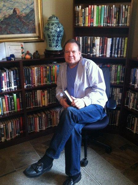Author Stephen Grogan in his home office.