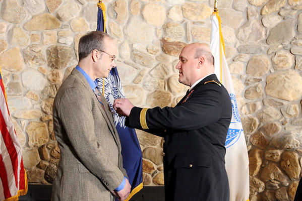 David Fierstien was presented with the Medal for the Defense of Freedom at the end of February for injuries he sustained while working as a wastewater operator in Afghanistan as a member of the Department of Defense's civilian workforce.