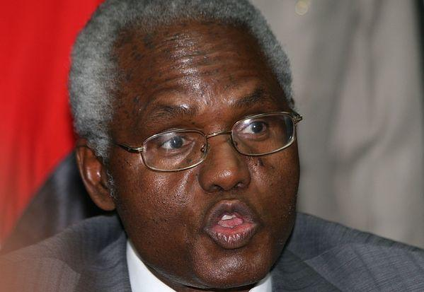 Francis Muthaura, head of Kenya's public service, speaks during a news conference in Nairobi in December 2010 after he was named by the International Criminal Court as one of six Kenyans accused of masterminding the deadly post-electoral violence three years earlier. The court on Monday dropped all charges against Muthaura.