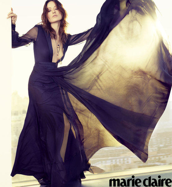 Actress Olivia Wilde is featured in April's Marie Claire.