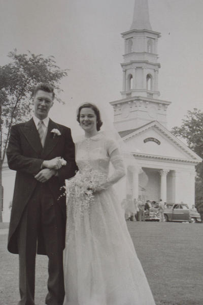 Wedding photo of Margaret Geyer and Fred Geyer from June 2 1951.