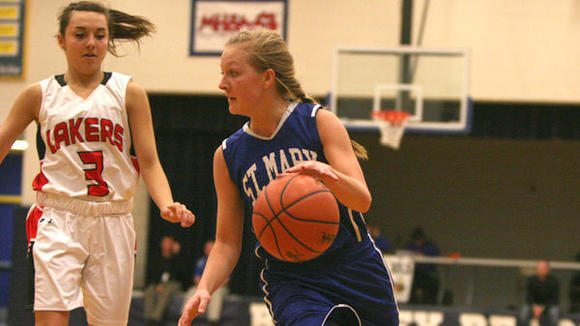 St. Mary advanced to Tuesday's quarterfinal game with the help of consistant play from senior Christina Smith.