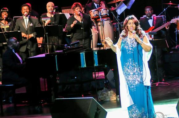 Aretha Franklin performs at Harrison Opera House in Norfolk March 9, 2013.