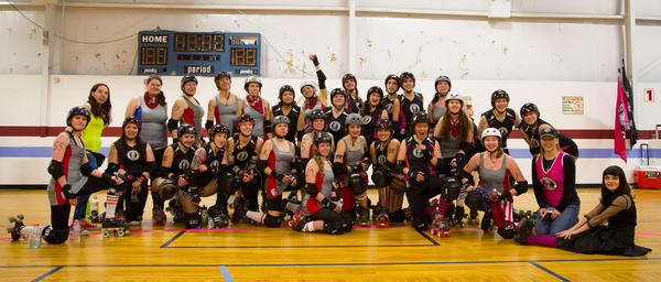 Lehigh Valley Roller Girls Hissy Fits vs. Ithaca at Independence Family Fun Center in Schnecksville on Saturday, March 9, 2013.