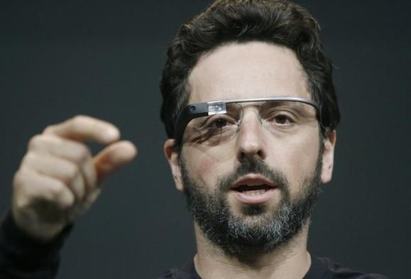 Sergey Brin in Google Glasses