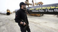 ISLAMABAD, Pakistan -- Work formally began Monday on a controversial pipeline that would feed energy-starved Pakistan natural gas from Iran, a project that has drawn stern warnings from the U.S. of possible sanctions against Islamabad if the South Asian nation doesn't reverse course.