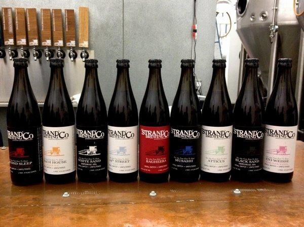 Torrance-based Strand Brewing will start bottling its beers this week.