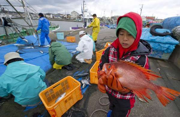 A family-operated fishing boat near the Fukushima Daiichi power plant, on March 28, 2011. Scientists spoke about continuing effects of the disaster on the second anniversary of the Japanese quake and tsunami.