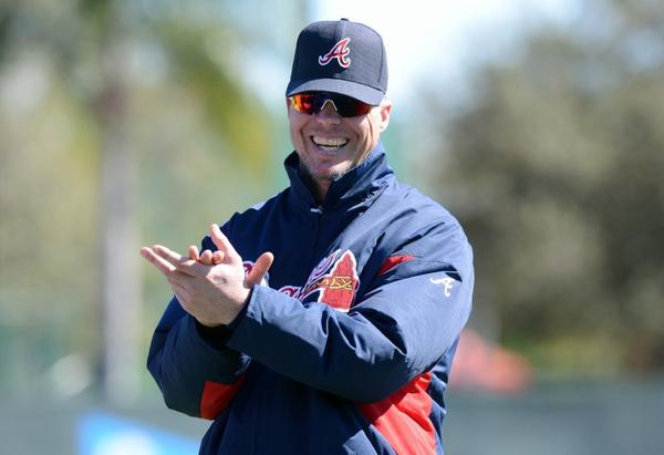 Chipper Jones has been helping out the Atlanta Braves during spring training this year.