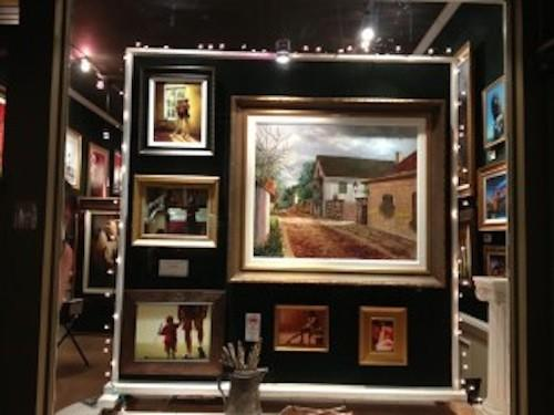 The gallery is open daily and is located at  130 St. George St.