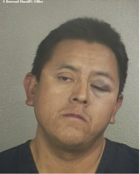 Noel Lopez is accused of stabbing a neighbor during a drunken fight in Davie.