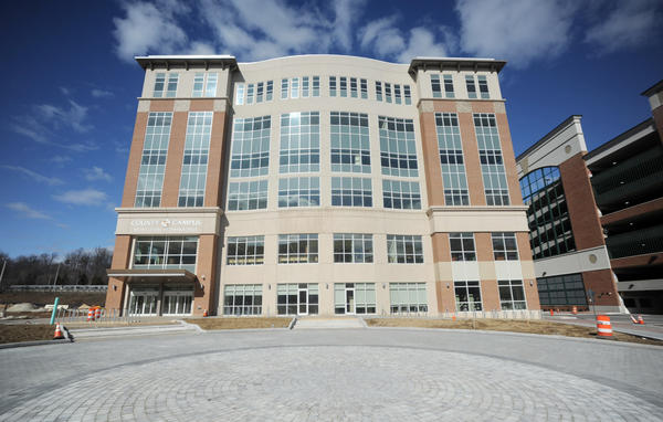 The new Owings Mills branch of the Baltimore County Public Library shares a building with the Community College of Baltimore, occupying two plus floors of the new structure in Owings Mills. The library is scheduled to open on March 21.