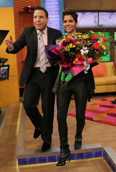 "MIAMI, FL - FEBRUARY 27: Raul Gonzalez and Halle Berry appear on Univision's Despierta America to promote her film ""The Call"" at Univision Headquarters on February 27, 2013 in Miami, Florida. (Photo by Alexander Tamargo/Getty Images)"
