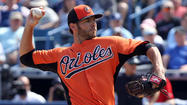 Jake Arrieta's bid to make the Orioles' rotation likely was strengthened Monday when he allowed two hits and struck out five through four innings in a 4-3 loss against the Pittsburgh Pirates.