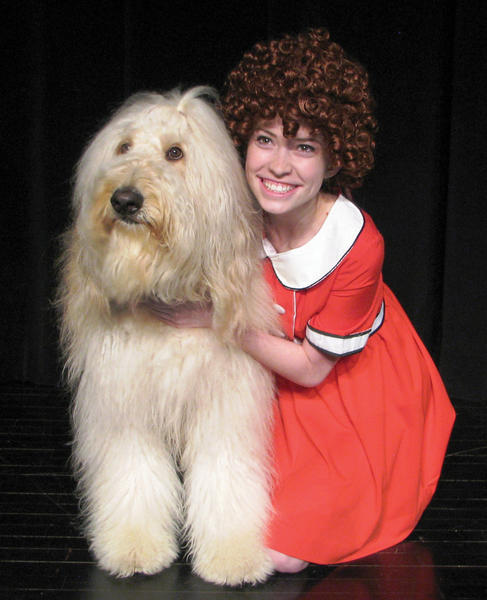 "Rebecca Reed is Little Orphan Annie in the Waynesboro Area Senior High School production of ""Annie."""
