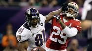 Anquan Boldin was a key reason San Francisco lost the Super Bowl to Baltimore last month. He led the Ravens with six catches for 104 yards, including a 30-yard touchdown pass from quarterback Joe Flacco to help deal the 49ers a 34-31 loss.