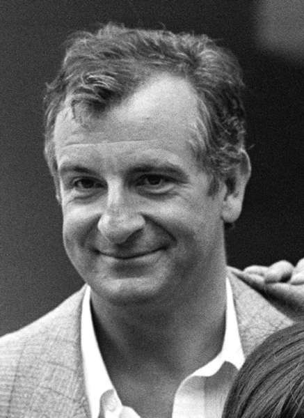 Douglas Adams, shown in 1989, is the subject of a Google Doodle.