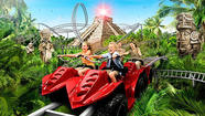 A $12-million roller coaster at a Scandinavian theme park will take riders on an off-road trek aboard all-terrain vehicles through a Mayan jungle in search of lost treasure.