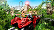 Jungle coaster takes riders on off-road trek at Danish theme park