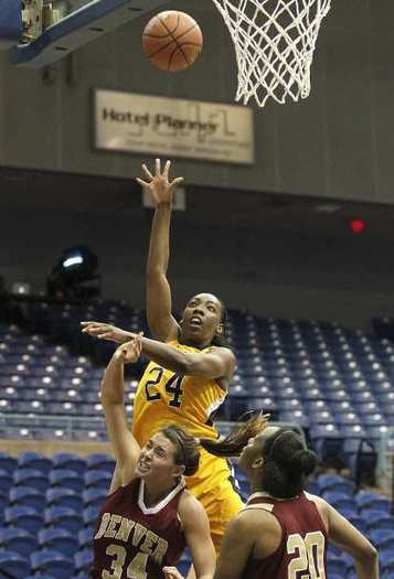UC Irvine's Camille Buckley (24) grabbed 9.9 rebounds a game to lead the Big West Conference.