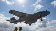 Three Navy fliers were killed when their jet crashed about 50 miles west of Spokane, Wash., on Monday, officials said.