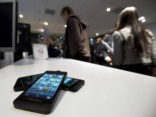 AT&T began taking pre-orders for the BlackBerry Z10 smartphone Tuesday.