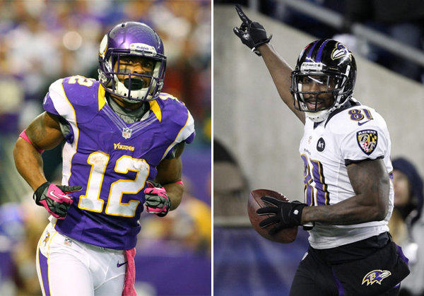 Receivers Percy Harvin and Anquan Boldin were both traded on the eve of free agency.