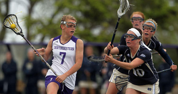 Erin Fitzgerald (7) in last year's NCAA playoffs.