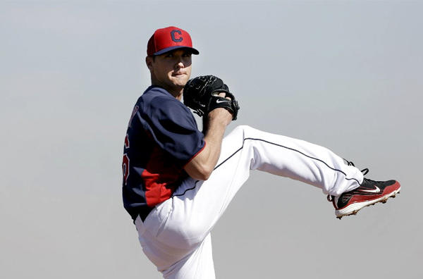 Indians pitcher Scott Kazmir pitched four scoreless innings against the Angels on Monday.
