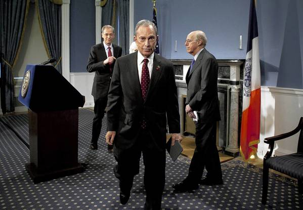 Mayor Michael Bloomberg speaks at a news conference in New York City. Today a New York state judge halted a controversial ban on large sugary drinks that was to take effect tomorrow.
