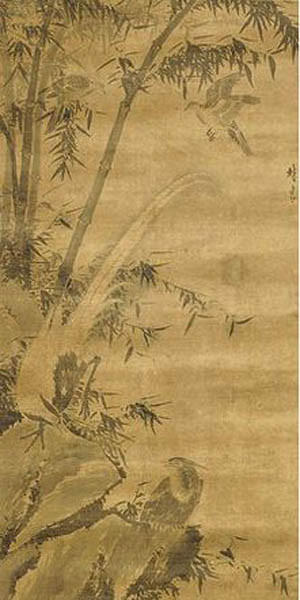 "Lin Liang's ""Birds and Bamboo"" from the Shanghai Museum."